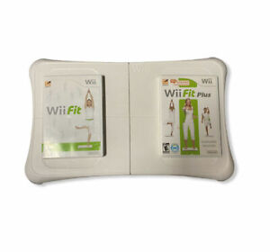 Nintendo Wii Fit Balance Board With Wii Fit and Wii Fit Plus Game Bundle Lot 2