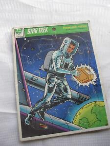1979-Whitman-Star-Trek-Frame-Tray-Jigsaw-Puzzle-USS-Enterprise-Captain-Kirk-4520