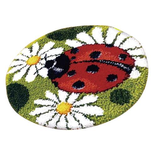 DIY Latch Hook Rug Kit Needlework Mat Yarn Wolf Cushion Embroidery Home Decor