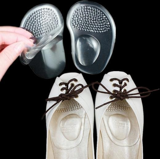 Silicone Gel Ball Foot Cushion Insoles Metatarsal Support Insert*Pad ShoesE9C