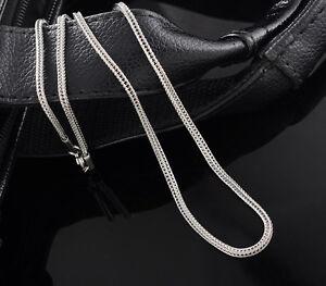 1-Edelstahl-Halskette-Fuchsschwanz-Kette-Silberfarbe-52-5cm