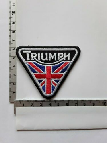 TRIUMPH BRITISH CLASSIC MOTORCLCLE BIKE EMBROIDERED QUALITY PATCH UK SELLER