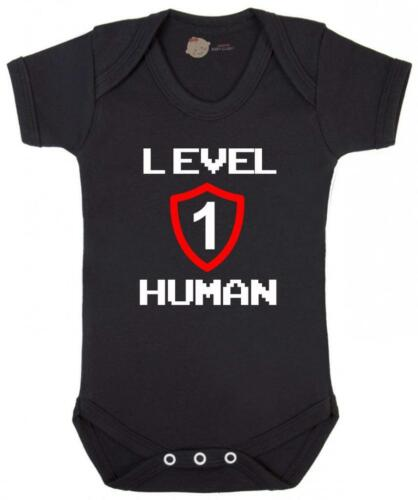 Gaming Baby Bodysuit Funny Baby Vest Level 1 Human