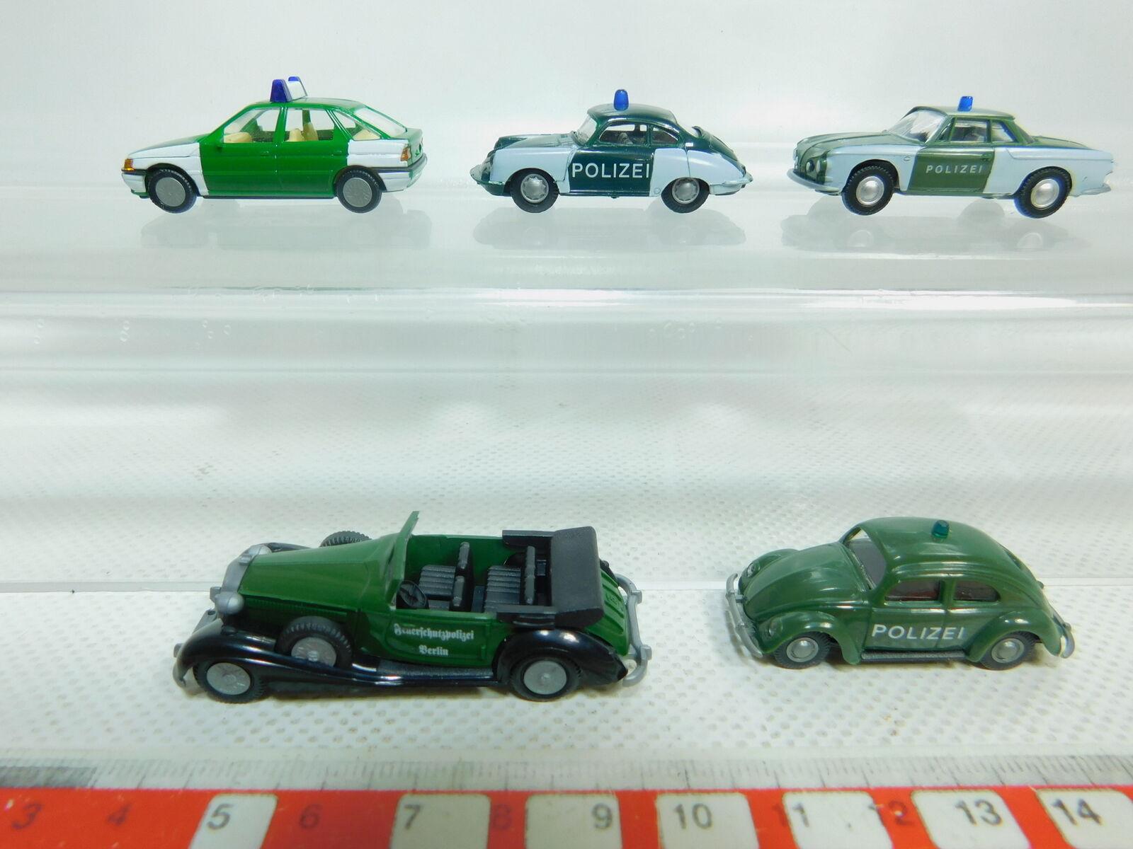 Bn179-0, 5  5x praliné h0 1 87 policía-modelo policía-modelo policía-modelo  ford + VW Porsche + + horch, Neuw ccdf44