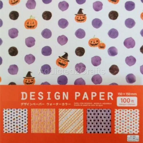 100 pcs Halloween Paper Decoration Prank Origami Washi Chiyogami 5 design 15cm