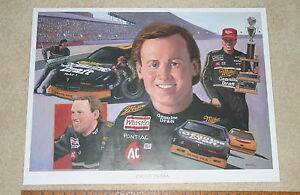 NASCAR-RUSTY-WALLACE-MILLER-GENUINE-DRAFT-2-SIGNED-COLOR-POSTER-18-X-24-STARKE