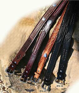 Ceintures western country en cuir STARS /& STRIPES **PROMO**