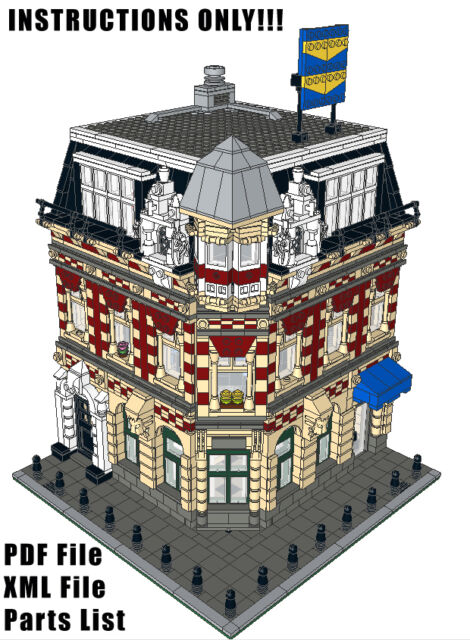 INSTRUCTIONS ONLY! LEGO Custom Modular Ladies Apartment