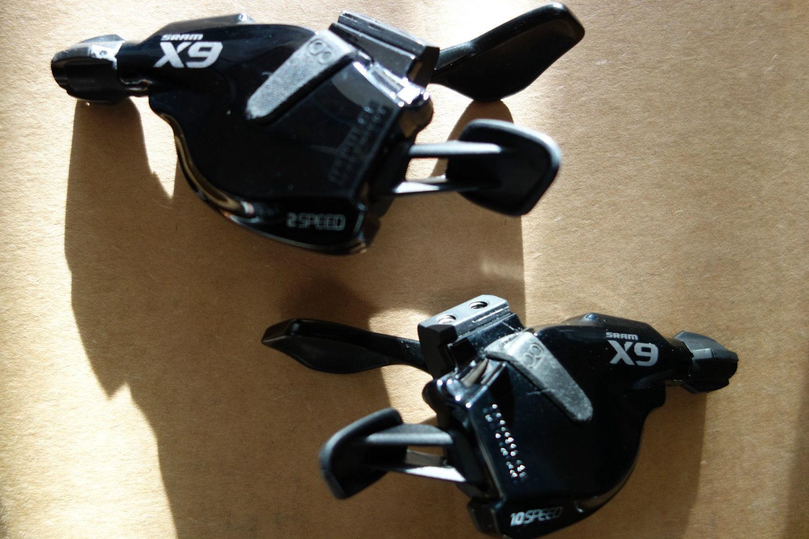 SRAM X9 gatillo palanca de cambios 2X10  Speed Negro  envío rápido en todo el mundo