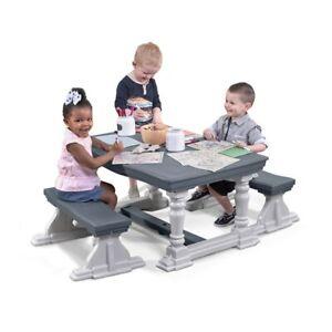 Astounding Details About Step2 3 Piece Farmhouse Table Bench Set Kids Table Chair Set Creativecarmelina Interior Chair Design Creativecarmelinacom