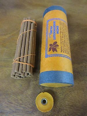 TIBETAN DHOOP STICKS HANDMADE NATURAL DHOOP INCENSE Saffron  30 STICKS