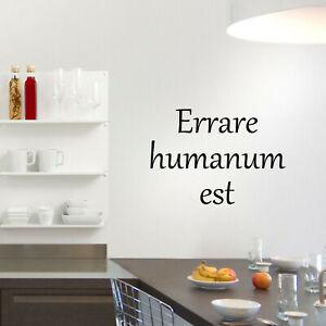 Dettagli Su Wall Stickers Frase Errare Humanum Est Sant Agostino Citazioni Latine A0477