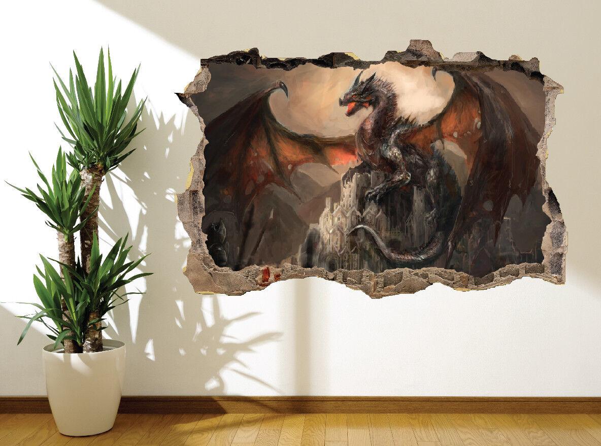 Superbe Huile Peinture Peinture Huile Effet Fantaisie Dragon Armée