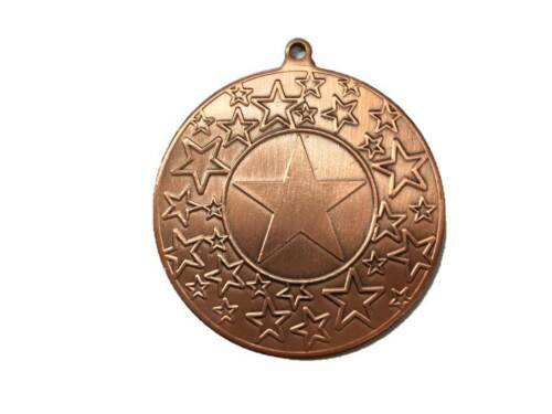 PACK OF 10 BRONZE MULTI STARS MEDAL WITH RIBBON, BUY 3 PACKS GET 1 FREE