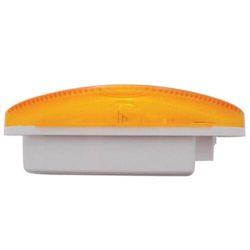 """Stainless Light Bracket w// Four 6/"""" Oval Lights /& Grommets Amber Lens"""