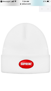 b373923164f Image is loading Supreme-Men-s-Unisex-Rubber-Patch-Beanie-SS18-