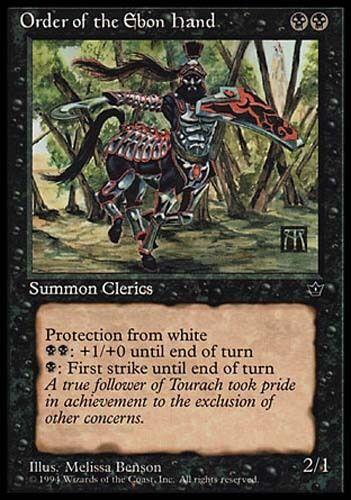 4x Order of the Ebon Hand V1 Fallen Empires MtG Magic Black Common 4 x4 Cards