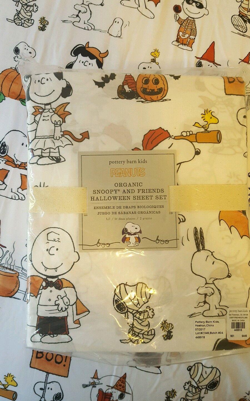 POTTERY BARN Kids peanuts snoopy Charlie feuilles pleine Vampire citrouille Halloween