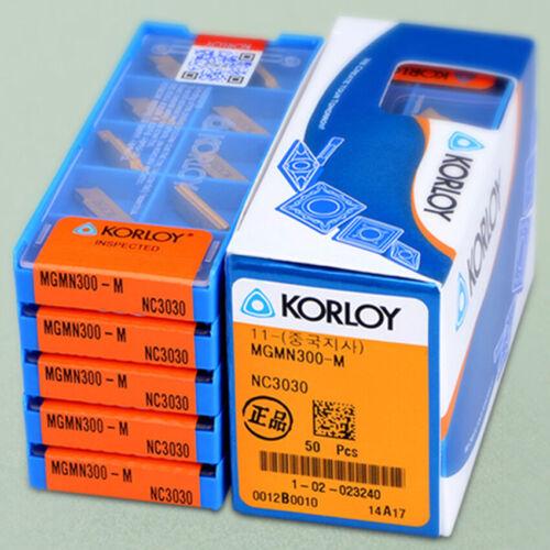 KORLOY MGMN300-M NC3030 3.0mm Cut-Off CNC Grooving insert Carbide inserts 10Pcs
