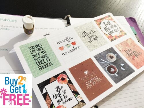 8pcs PP148 Small Inspirational Quote Life Planner Stickers for Erin Condren
