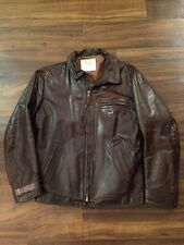 Georgetown Leather Design Men Brown Leather Bomber Jacket S Zip Lined Distressed