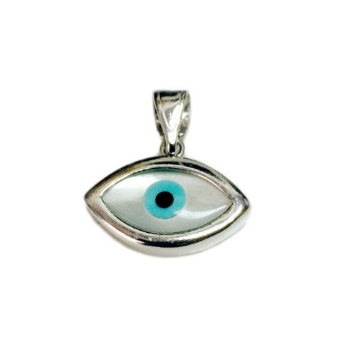 23 x 13 mm Argent Sterling Evil Eye Pendentif Charme