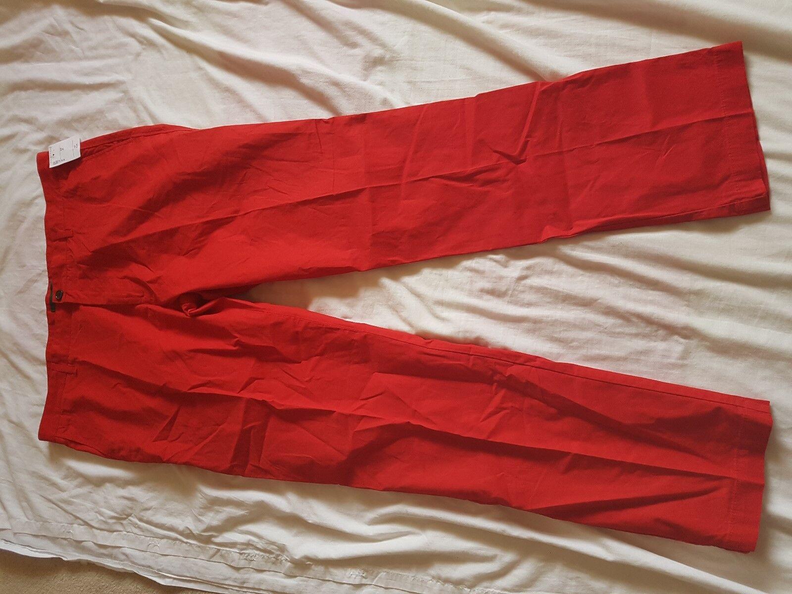 MENS BNWT LACOSTE rot CHINO TROUSERS Größe 40  WAIST 34  LEG