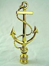 SOLID  BRASS  NAUTICAL BOAT SHIPS  ANCHOR  LAMP  LIGHTING  SHADE  FINIAL  (NEW)