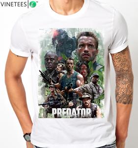 ARNOLD-SCHWARZENEGGER-PREDATOR-RETRO-ALIEN-COOL-T-Shirt-KIDS-MENS-Any-Size