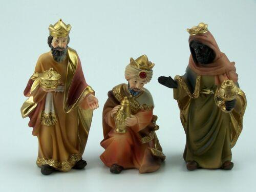 handbemalt Krippenfiguren 11 cm drei Könige Polyresin Hlg ohne Sockel