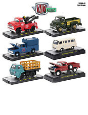 AUTO TRUCKS 6 PIECE SET RELEASE 42 IN ACRYLIC CASES 1/64 BY M2 MACHINES 32500-42