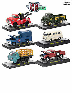 auto trucks 6 piece set release 42 in acrylic cases 1 64 by m2 machines 32500 42 ebay. Black Bedroom Furniture Sets. Home Design Ideas