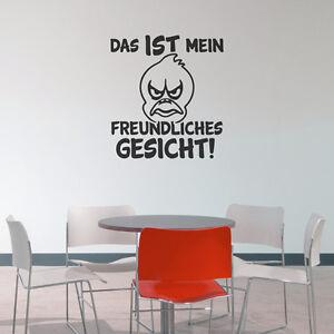 Wandtattoo-Freundliches-Gesicht-Spruch-Aufkleber-Wandaufkleber-Wand-Tattoo-2132
