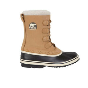 Sorel Women s 1964 Pac 2 Snow Waterproof Leather Boots - Buff Black ... 73c99b11bd6