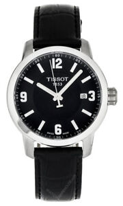 Details About Tissot T Sport Prc 200 T0554101605700 Men S 39mm Black Leather Dress Watch