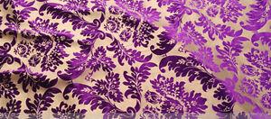 ELEGANT-DESIGNER-UPHOLSTERY-FABRIC-Bronzing-velvet-flannelette-No-14-Purple