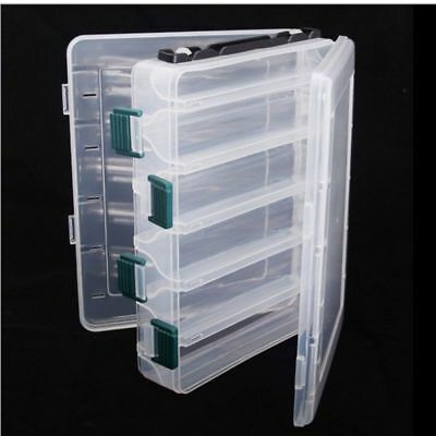10 Compartments Fishing Fish Hook Bait Lure Box Tackle Storage Container Case BB