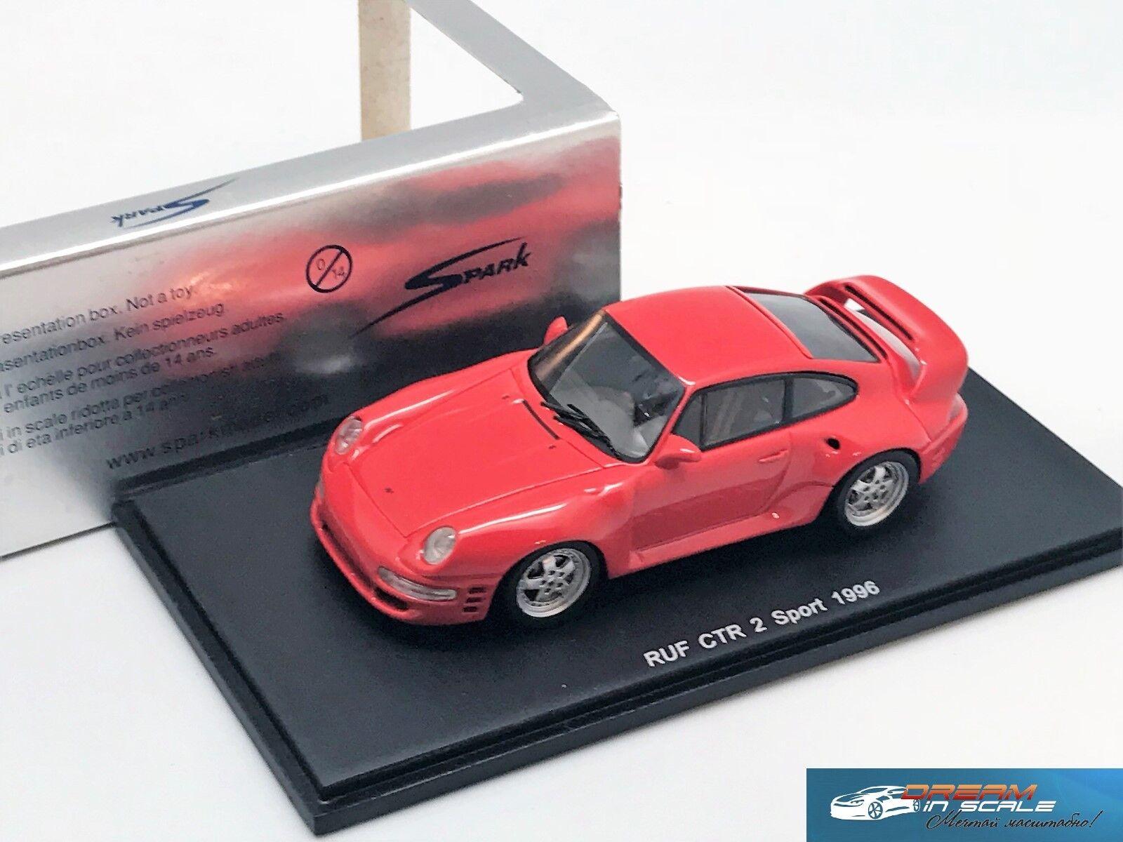 Porsche RUF CTR 2 Sport  rosso Spark S0724  resin 1 43