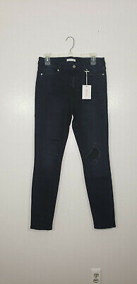Nwt Good American Side Zip High Waist Ankle Skinny Jeans blue051 PLUS SIZE 18