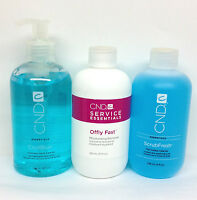 Cnd Shellac 3pcs Set - Cool Blue , Scrubfresh, Offlly Fast 8oz