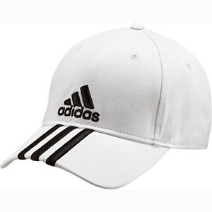 adidas performance cap 3 stripes wei schirmm tze kappe baseballcap basecap capy ebay. Black Bedroom Furniture Sets. Home Design Ideas