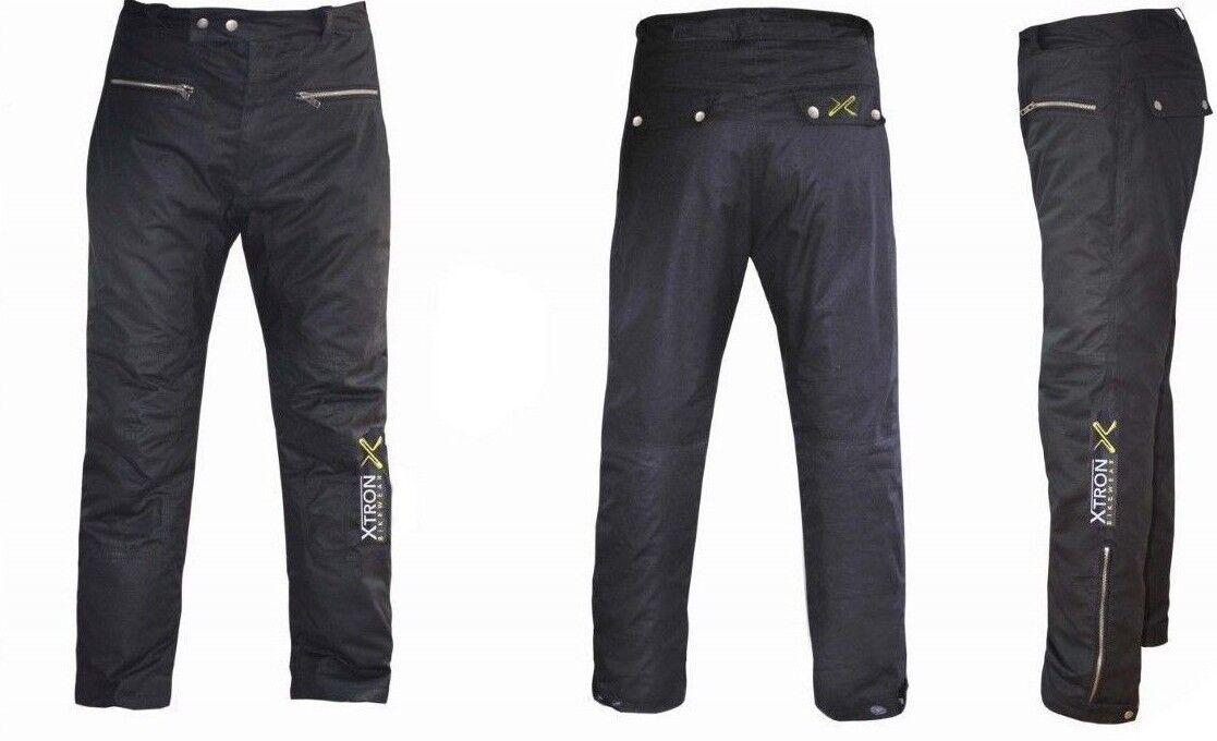 Black Armour Classic Cire Coton Style Vintage Moto Pantalon CE Armour Black Moto WP de394e