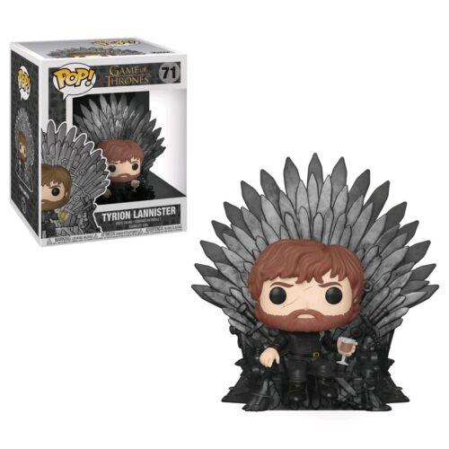 Vinyl--Game of Thrones Deluxe Pop Tyrion on Iron Throne Pop