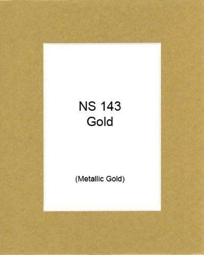 Bag Backing 25 of 11x14 Metallic Gold Photo Mats with WhiteCore for 8x10 Photo