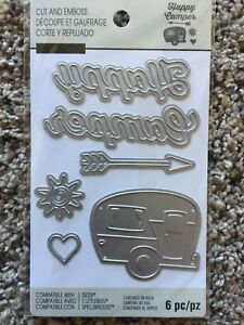 Recollections Shine Bright 6 Dies Cut /& Emboss 508090 Friendship Words Key Arrow