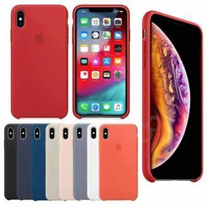 Genuine-Originale-Silicone-Sottile-Custodia-Cover-per-Apple-iPhone-XS-Max-XR-X