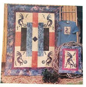 Kokopelli Flute player applique quilt pattern Granola Girl lap ... : kokopelli quilt pattern - Adamdwight.com