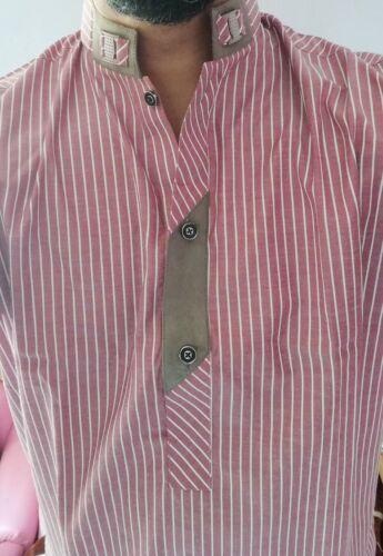 Designer Style Light Dark Pink Medium Kurta Men/'s Pakistani Indian