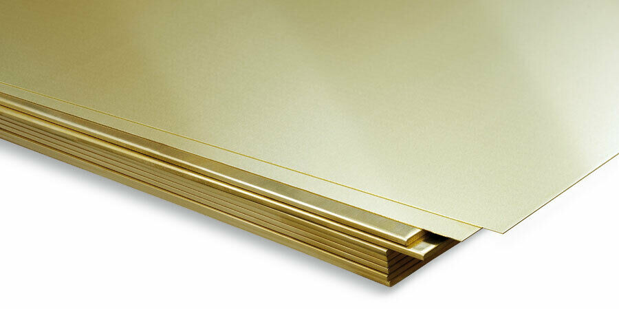 Brass Sheet plate guillotine Offcuts - 0.3mm to 3.0mm - Multiple Sizes