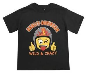 Harley-Davidson-Little-Boys-039-Wild-amp-Crazy-Emoji-Short-Sleeve-Toddler-Tee-1570710